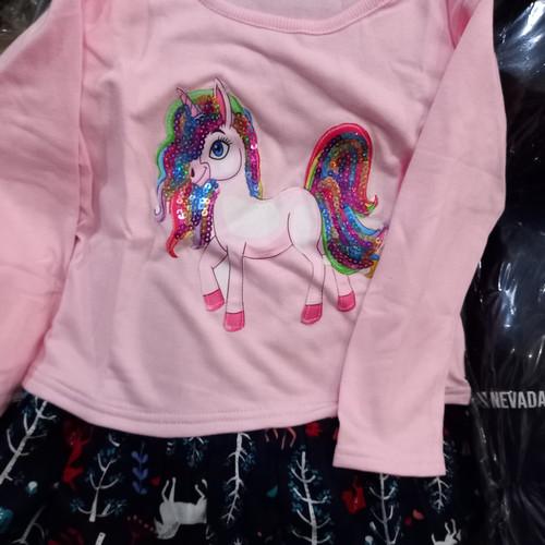 Foto Produk dress anak little M pink putih usia 2.3 4.5.6.7 tahun size S.M.L.XL dari JnR Fashion