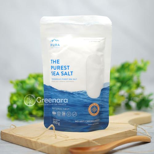 Foto Produk PURA PUREST SEA SALT 300g FINE / Garam Laut Natural Halus dari Greenara