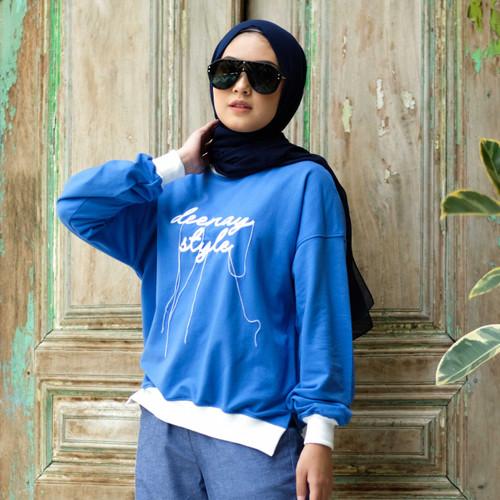 Foto Produk SWEATSHIRT DEENAY SEWING BLUE - S dari deenayofficialstore