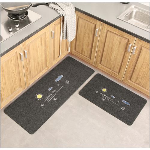 Foto Produk Door Mat Trendy SET Keset Rumah Kaki Dapur Pintu Kamar Anti Selip - SunnyDayGrey dari Le Carre