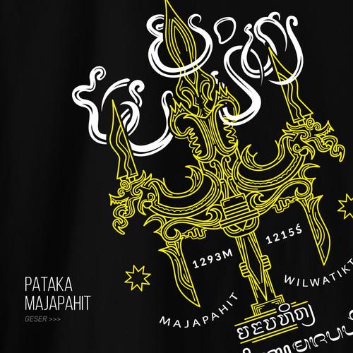 Foto Produk Kaos Bahnoo Pataka Majapahit - Hitam, L dari bahnoo