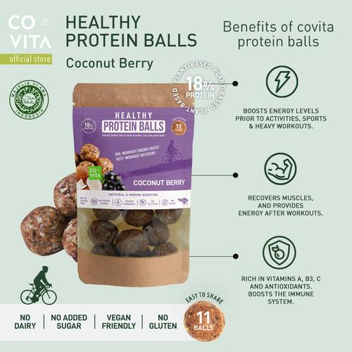 Foto Produk Covita Healthy Protein Balls - Coconut Berry - Healthy Snack dari Covita