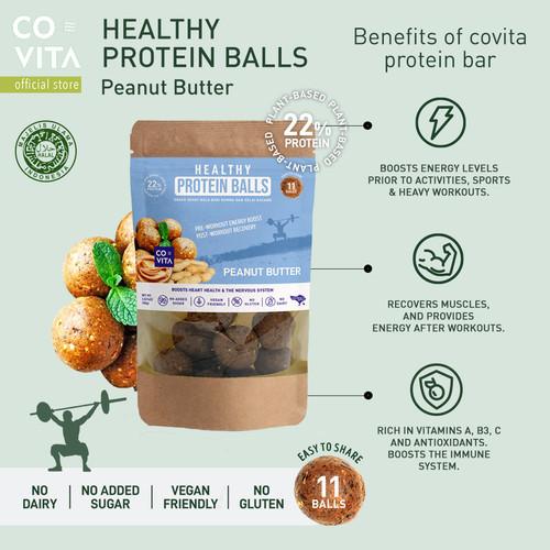 Foto Produk Covita Healthy Protein Balls - Peanut Butter - Snack Instant Sehat dari Covita