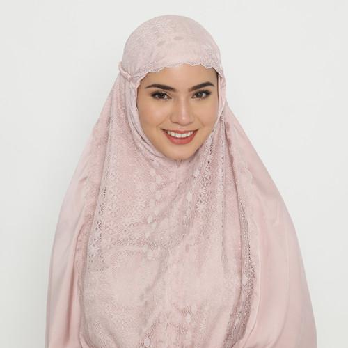 Foto Produk Eiza by duapola Mukena Silk Lace 7209 - Dusty Pink - Classic dari Eiza