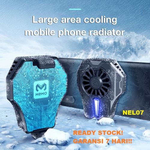 Foto Produk Original Memo DL01 Fancooler Radiator Pendingin HP Coolingfan Gaming - Hitam dari NEL07