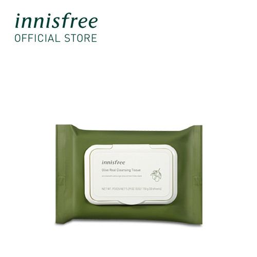 Foto Produk [innisfree] Olive Real Cleansing Tissue 150G (30 Sheets) dari Innisfree Official Shop