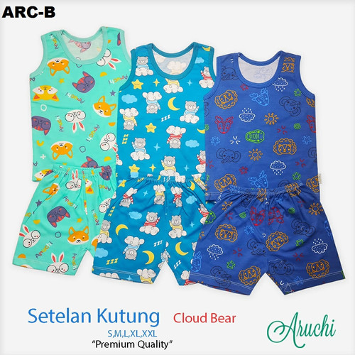 Foto Produk ARUCHI Setelan Kutung Singlet S M L ( 3 - 12 Bulan) Baju Bayi (PART 1) - ARC B, Size M dari elanastore