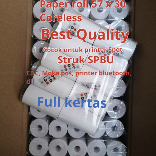 Foto Produk KERTAS THERMAL STRUK KASIR EDC 58X30 / 58 X 30 MM dari smart buyer solution