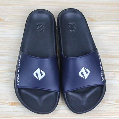 Foto Produk sandal/ sandal pria terbaru/ sandal slop/ sandal distro - navy, 39 dari zawsfootwear