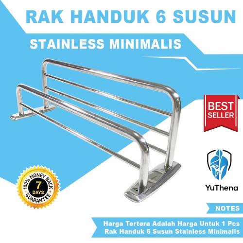 Foto Produk Rak Gantungan Tempat Handuk 6 Susun Murah Stainless Rack Towel By Shop dari YuThena Official Store