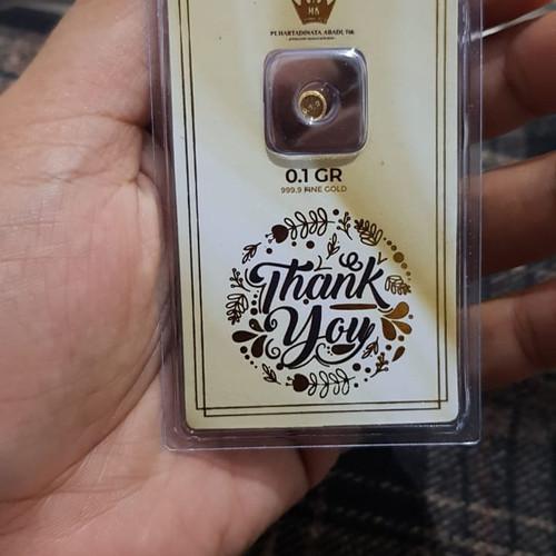 Foto Produk Hartadinata gift series moment 0,1 gram 24 karat emas murni dari Kilauberkah