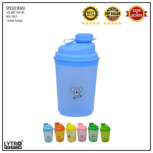 Foto Produk Gelas Shaker Plastik Serba Guna 350ML Tahan Panas - Biru Muda dari LYTRO