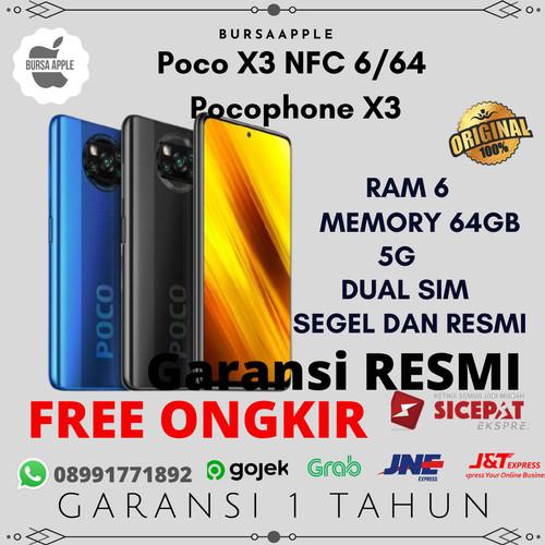 Foto Produk Poco X3 NFC 6/64 Pocophone X3 Poco X 3 Garansi Resmi XIAOMI INDONESIA - Abu-abu dari BursaApple