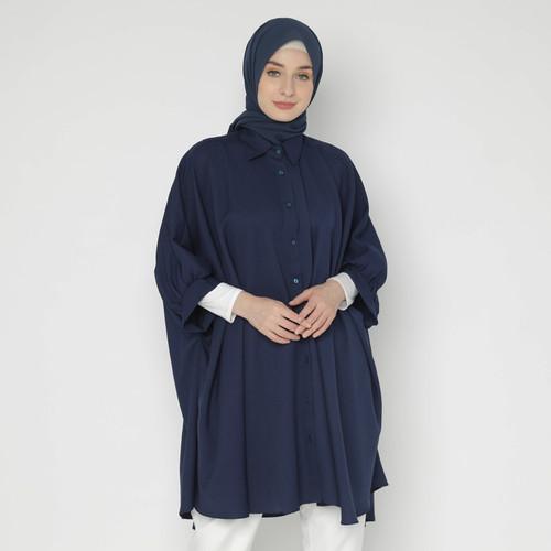 Foto Produk Eiza by duapola Batwing Sleeves Tunik 8839 - Navy dari Eiza