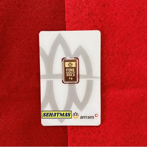 Foto Produk Logam Mulia Emas Antam 3 Gram dari sehatmas