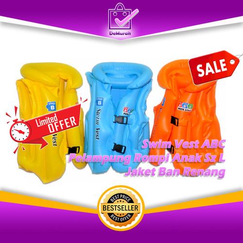 Foto Produk 0332 Swim Vest ABC Pelampung Rompi Anak Sz L Jaket Ban Renang - Kuning dari Demurah Dot Com