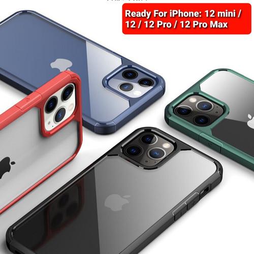 Foto Produk Case Iphone 12 / 12 Mini / 12 Pro / 12 Pro Max Viseaon Rugged Clear - Biru, Iphone 12 dari Droidcase