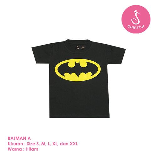 Foto Produk Baju Kaos Distro Anak Premium Batman A 1-8 Tahun Shirton - BATMAN A, Size S dari shirton
