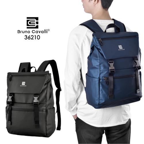 Foto Produk Bruno Cavalli Backpack Waterproof - Tas Ransel Laptop BC 36210 - Blue Navy dari Bruno Cavalli Official