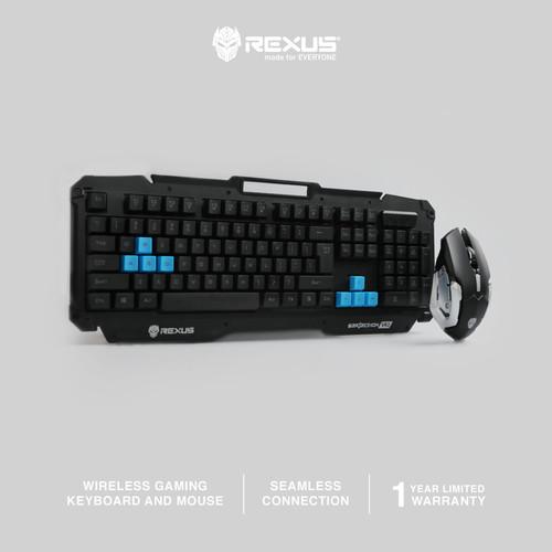 Foto Produk Rexus Keyboard Mouse Wireless Gaming Warfaction VR2 Combo dari Rexus Official Store