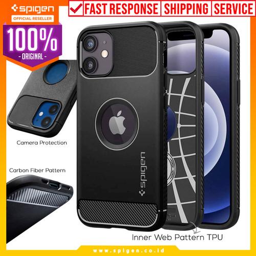 Foto Produk Case iPhone 12 Pro Max / Pro / Mini Spigen Rugged Armor Carbon Casing - 12 Mini dari Spigen Official