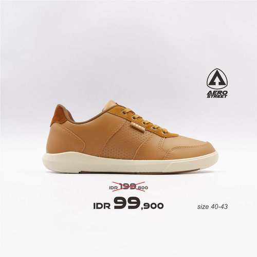 Foto Produk Aerostreet 40-43 Evander Coklat Muda - Sepatu Sneakers Casual Pria - 40 dari Aerostreet