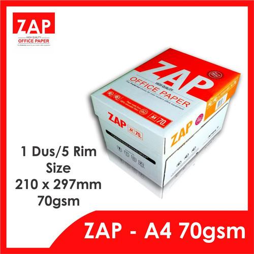 Foto Produk Kertas A4 HVS 70 Gram ZAP - 1 dus/ 5 rim/2.500 lembar - Print Faster dari Zap Official Paper