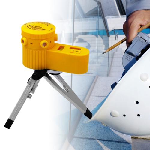 Foto Produk Laser Leveler Siku Laser Waterpass Kaki Tripod Siku Tukang Laser Level - Hitam Tripod dari Rumix