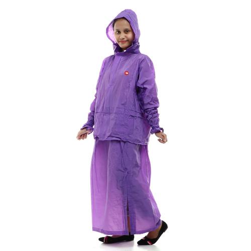 Foto Produk Jas Hujan Setelan Rok Wanita Korea Muslimah Gamis Mantel Hujan - Ungu dari Tabasa Indonesia