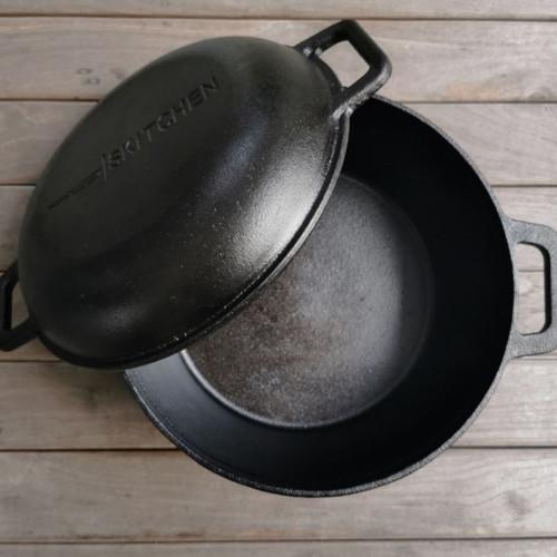 Foto Produk Denver Dutch Oven by SKITCHEN/Combo Dutch Oven/Cast Iron Kitchenware dari SKITCHEN Indonesia