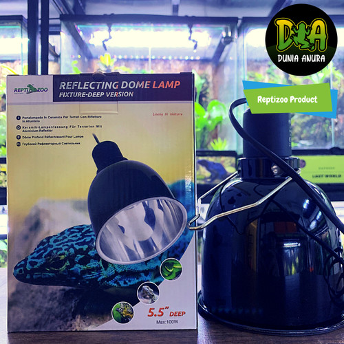 "Foto Produk Reptizoo Light Dome 5.5"" 100W - Fitting Lampu dari Dunia Anura"