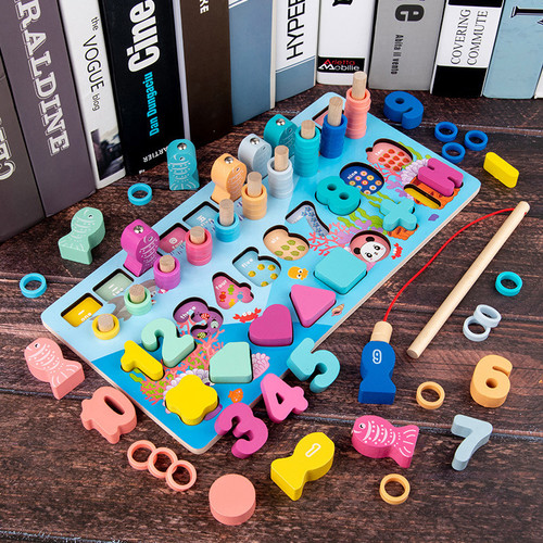 Foto Produk TweedyToys - Papan Montessori Puzzle Pancing Ikan 5 in 1 dari TweedyToys