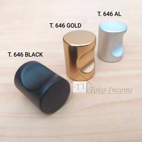Foto Produk Handle 646 / Tarikan Laci Lemari Bulat Black Gold Aluminium dari Toko Income