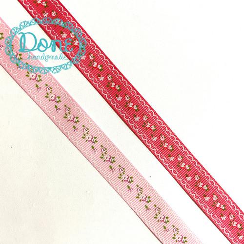 Foto Produk Pita salur motif vintage pita garis aksesoris dekorasi pita rambut - Dark pink dari done handymade