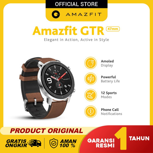 Foto Produk Amazfit GTR 47mm Smartwatch International Version Garansi Resmi - Aluminum Alloy dari Amazfit Official