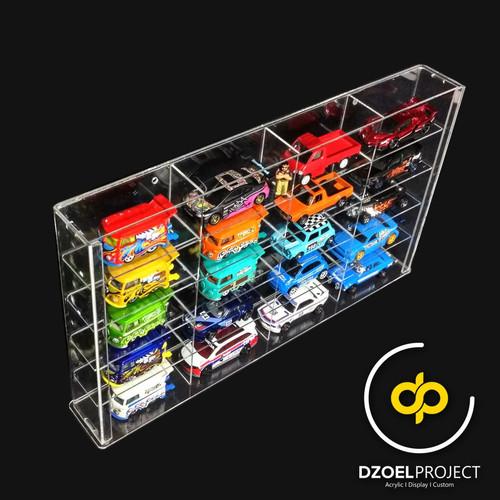 Foto Produk Box Rak akrilik isi 20 + tutup untuk koleksi diecast dari DzoelProject