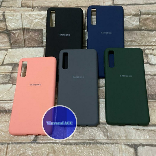 Foto Produk Silicone Cover Samsung Galaxy A7 2018 A750 Original Silikon SoftCase - Hitam dari Vinvend ACC