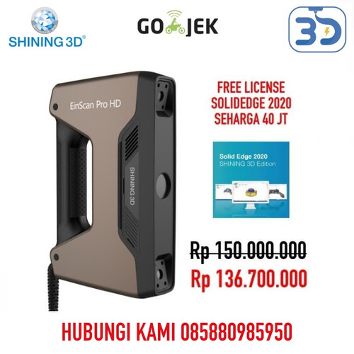 Foto Produk Industrial Grade 3D Scanner Einscan Pro HD with Free SolidEdge dari 3D Zaiku