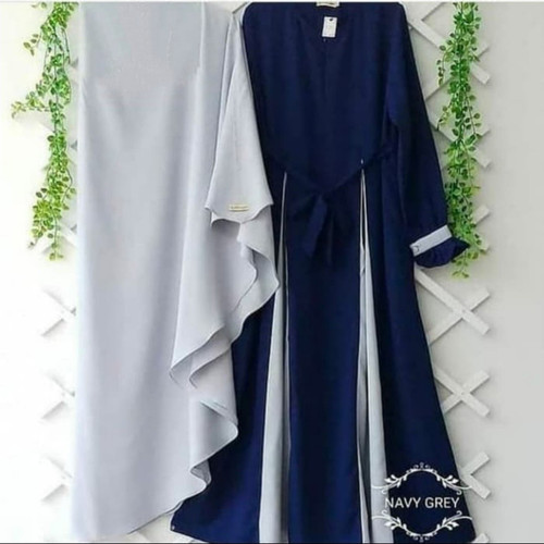 Foto Produk Baju Gamis Wanita Terbaru Syari MARWAH SET Hijab Muslim Terbaru Murah dari damris shop