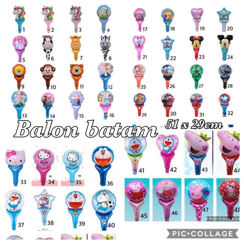 Foto Produk Balon pentungan foil karakter disney animal marvel dari Grosirbalonbatam