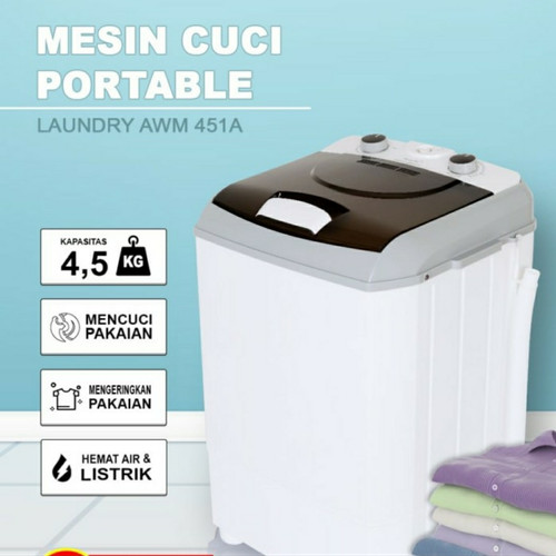Foto Produk mesin cuci portable ARASHI AWM 451A - 4.5 kg - garansi 3 tahun dari sini grosir