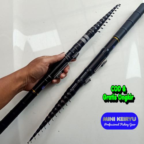 Foto Produk Joran Tegek Custom Super Black 360 + Reel - 240 dari Jogja Strike