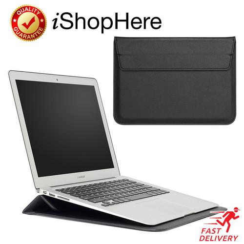 Foto Produk Sleeve with Stand Tas Laptop Sarung Case Macbook Pro Air 11 13 15 inch - Hitam, 13 inch dari iShop Here
