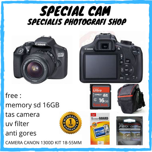 Foto Produk CAMERA CANON EOS 1300D KIT 18-55MM / CANON 1300D KIT 18-55MM dari specialcam