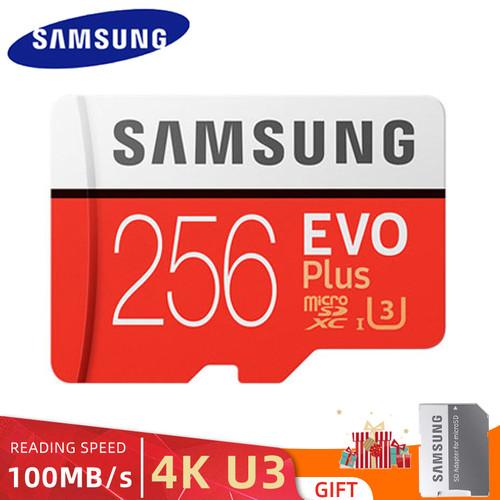 Foto Produk Memory card Samsung Class10 Kapasitas 256GB Micro sd with adapter dari Detail's store