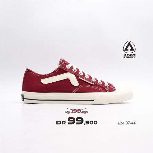 Foto Produk Aerostreet 37-44 Jhosse Low Maroon - Sepatu Sneakers Casual Pria - 38 dari Aerostreet