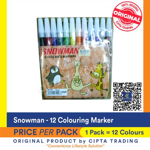 Foto Produk Snowman 12 Colour Marker dari Cipta Trading