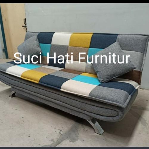 Foto Produk Sofa Bed Perahu Motif Catur dari Toko Furnitur Suci Hati