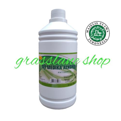 Foto Produk Alcohol Alkohol 70% 1000 ml 1 liter Food Grade Medika dari grasslane shop