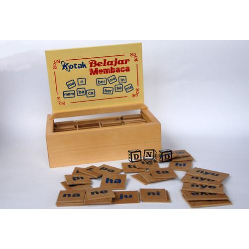 Foto Produk Mainan Edukatif / Edukasi Anak - Balok Kayu - Kotak belajar membaca dari Toko DnD